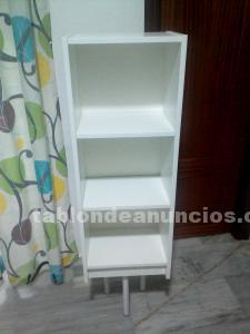 Estantería/armario 3 huecos blanca