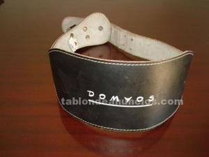 Cinturon lumbar de piel domyos