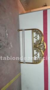 Cabecero y pie de cama de bronce