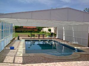 Pérgola o cubierta para piscina