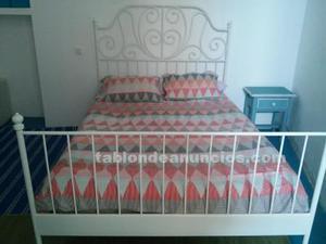 Cama, colchón y somier de laminas