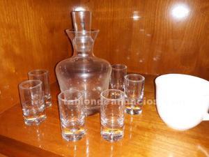Juego licorera cristal