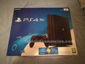 Consola ps4 nueva 1 tb pro y 1 mando