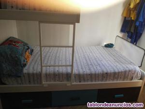 Cama tren para habitación de niños