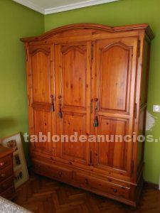 Conjunto de muebles de madera de pino macizo para dormitorio