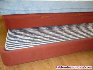 Canape dos camas con arcon almacenaje