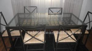 Mesa de ikea granas con 6 sillas