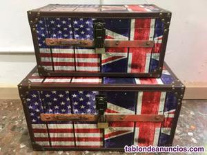 Conjunto baúles madera