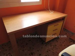 Escritorio + estantería + silla oficina