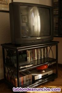 Mueble auxiliar televisión y estantería