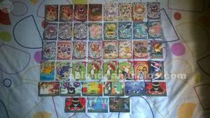 Raro lote de cromos y cartas de pokemon