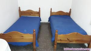 2 camas de 90 pino macizo