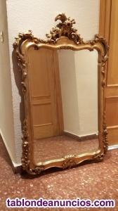 Conjunto de mueble recibidor y espejo.