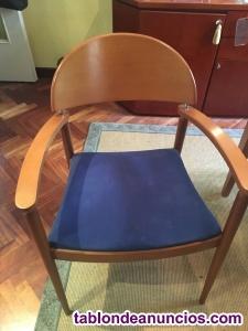 Mesa cristal y 6 sillas