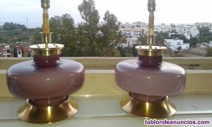 Vendo juego de lamparas violeta