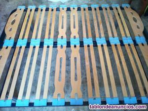 Somier madera lamas flotantes de 1,35