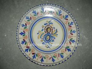 Vendo 10 platos ceramicos de toledo, talavera de la reina