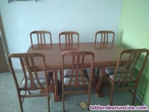 Mueble salón, mesa comedor+6 sillas