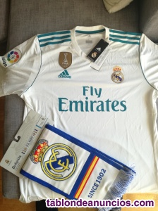 Camiseta oficial real madrid  + bufanda real madrid