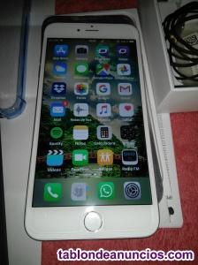 Cambio o vendo iphone 6 s plus blanco y plata en perfectas