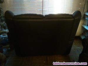 Sofa negro de piel autentica