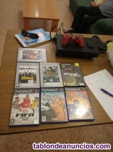 Consola playstation 2 + 8 juegos