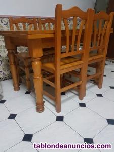 Mesa comedor con 4 sillas