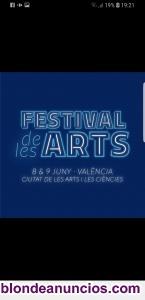 Vendo abono 2 días festival les arts  valencia