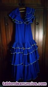 Vendo traje de flamenca color azul cobalto