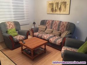 Conjunto sofa y dos sillones