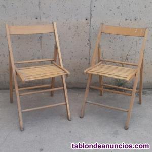 Sillas plegables madera (lote 2)