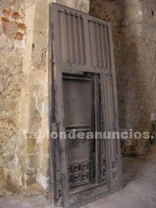 2 puertas de hierro macizo de gran calidad