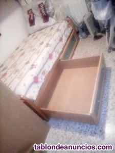 Dormitorio juvenil armario y cama