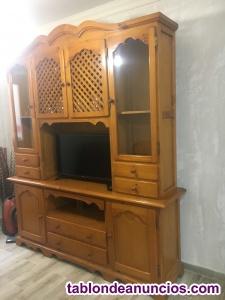 Vendo lote mueble de salón más sofás 3+2