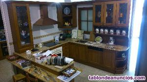Liquidación cocina exposición roble