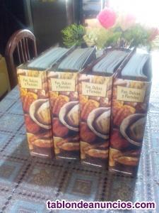 Vendo 4 archivadores de pan dulces y pasteles con mas de 700