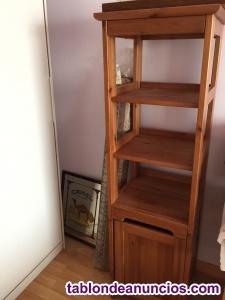 Vendo estantería nueva de madera nogal