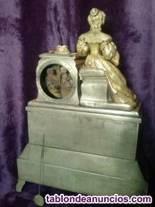 Reloj bronce dorado. Francia siglo xix.