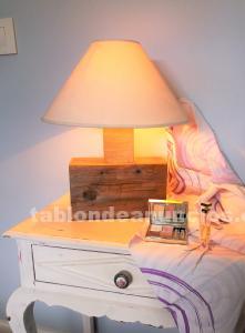 Vendo lámpara original, única y de madera
