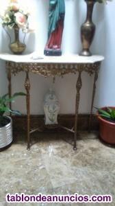 Consola de bronce y marmol