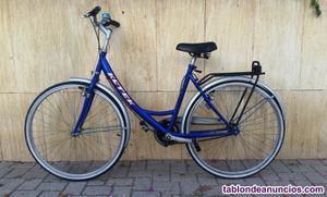 Bicicleta de paseo y ciudad color azul