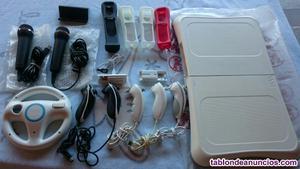 Tabla wii fit y accesorios