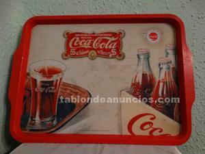 Bandeja metálica coca cola