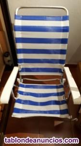 3 sillas – tumbona playa