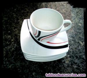 Juego de café tricolor