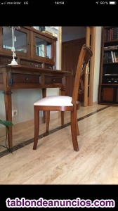 6 sillas de salón + arcón