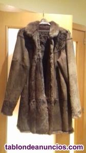 Abrigo de visón. Chaqueta de cuero y visón
