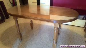 Mesa de comedor de madera maziza