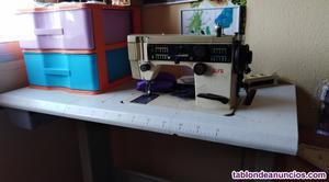 Vendo maquina de coser alfa eléctrica con mesa calibrada y