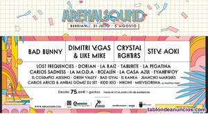 Entrada arenal sound  day mas camping mas autobus
